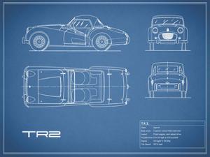 Triumph TR2-Blue by Mark Rogan