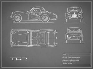 Triumph TR2-Grey by Mark Rogan