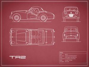 Triumph TR2-Maroon by Mark Rogan