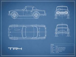 Triumph TR4-Blue by Mark Rogan