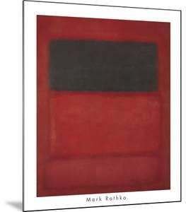 Black over Reds [Black on Red], 1957 by Mark Rothko