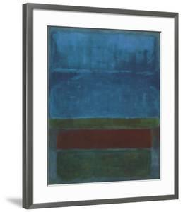 Blue, Green, and Brown by Mark Rothko