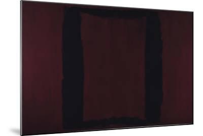 Mural, Section 3 {Black on Maroon} [Seagram Mural] by Mark Rothko