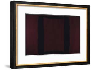 Mural, Section 3 {Black on Maroon} [Seagram Mural] by Mark Rothko