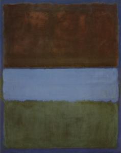 No. 61 (Brown, Blue, Brown on Blue), c.1953