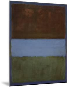 No. 61 (Brown, Blue, Brown on Blue), c.1953 by Mark Rothko
