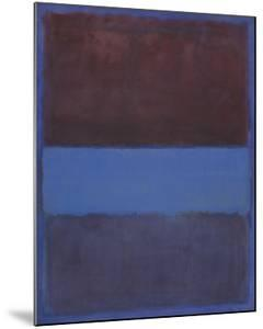 No. 61 (Rust and Blue) [Brown Blue, Brown on Blue], 1953 by Mark Rothko