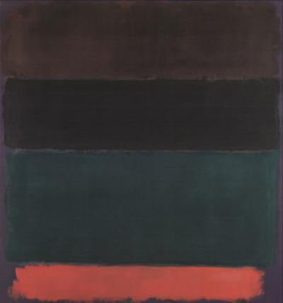 Red-Brown, Black, Green, Red by Mark Rothko