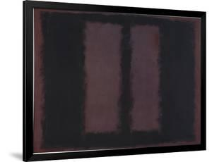 "Sketch for ""Mural No.6"" (Two Openings in Black Over Wine) {Black on Maroon} [Seagram Mural Sketch] by Mark Rothko"