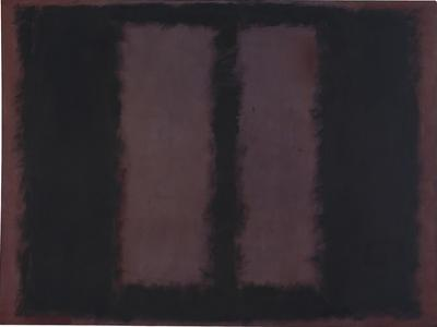 "Sketch for ""Mural No.6"" (Two Openings in Black Over Wine) {Black on Maroon} [Seagram Mural Sketch] by Mark Rothko"