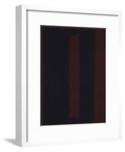 Untitled {Black on Maroon} [Seagram Mural Sketch] by Mark Rothko