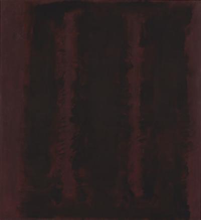Untitled {Sketch for Mural/ Black on Maroon} [Seagram Mural Sketch] by Mark Rothko