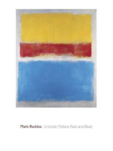 Untitled (Yellow, Red and Blue) by Mark Rothko