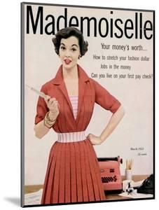 Mademoiselle Cover - March 1953 by Mark Shaw