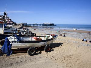 Fishing Boats on the Beach at Cromer, Norfolk, England, United Kingdom, Europe by Mark Sunderland