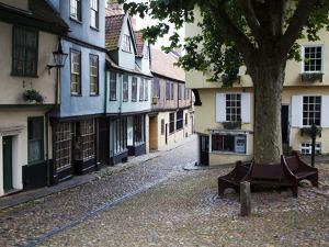 Old Buildings on Elm Hill, Norwich, Norfolk, England, United Kingdom, Europe by Mark Sunderland