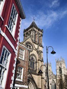 St Wilfrids Catholic Church and York Minster, York, Yorkshire, England by Mark Sunderland