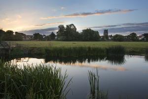 Sudbury Water Meadows at Dawn, Sudbury, Suffolk, England, United Kingdom, Europe by Mark Sunderland