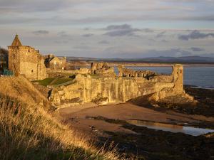 The Castle at Sunrise, St Andrews, Fife, Scotland by Mark Sunderland