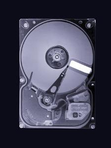 Computer Hard Disk, Simulated X-ray by Mark Sykes