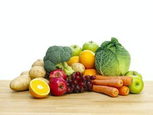 Selection of Fresh Fruit And Vegetables by Mark Sykes