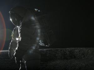 Space suit undergoes testing in the Johnson Space Center's lunar yard by Mark Thiessen