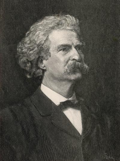 Mark Twain American Writer Creator of Tom Sawyer and Huckleberry Finn--Photographic Print