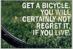 Mark Twain Bicycle Quote Poster