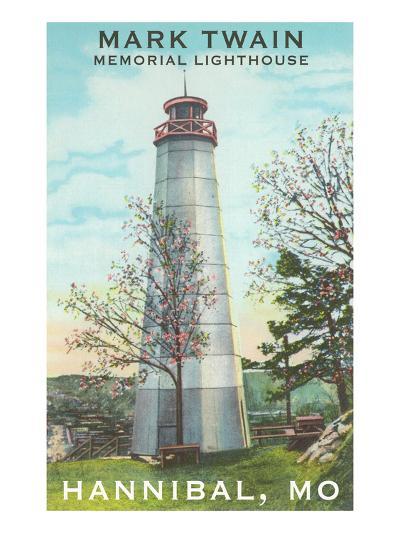 Mark Twain Lighthouse, Hannibal, Missouri--Art Print