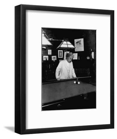 Mark Twain Playing Game of Pool