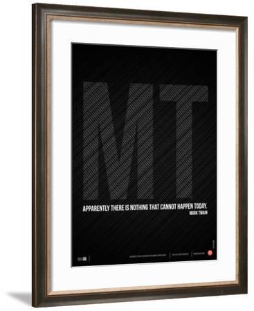 Mark Twain Quote Poster-NaxArt-Framed Art Print