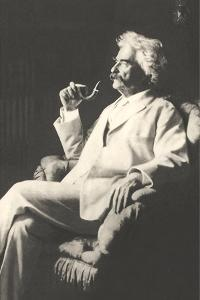Mark Twain with Pipe