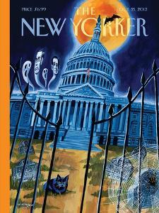 Haunted House - The New Yorker Cover, October 21, 2013 by Mark Ulriksen
