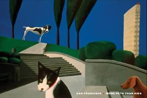 San Francisco - More Pets Than Kids by Mark Ulriksen