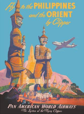 Fly to the Philippines - and the Orient by Clipper - Pan American World Airways