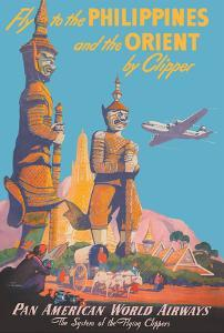 Fly to the Philippines - and the Orient by Clipper - Pan American World Airways by Mark Von Arenburg