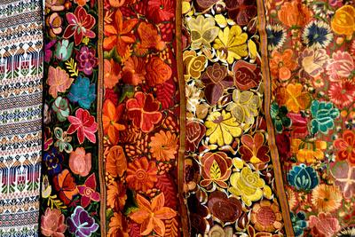 Bright floral tapestries for sale in Hopkins, Belize