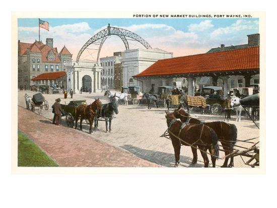 Market Buildings, Ft. Wayne, Indiana--Art Print