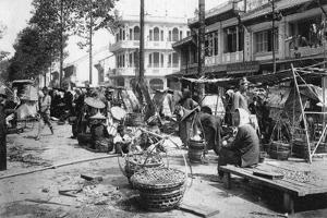Market, Cholon, Saigon, Vietnam, 20th Century