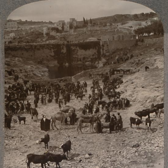 'Market day at the Pool of Gihon', c1900-Unknown-Photographic Print