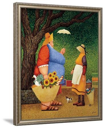 Market Day-Lowell Herrero-Framed Art Print