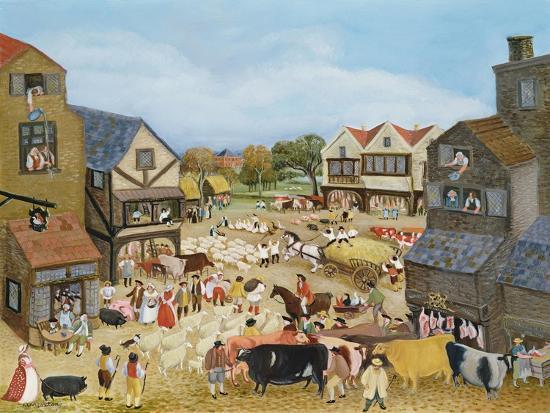 Market Day-Margaret Loxton-Giclee Print