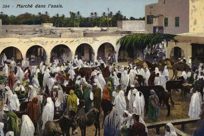 Market in the Oasis--Photographic Print