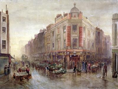 Market on a Sunday Morning at Seven Dials, Holborn, London, 1878-Bernard Evans-Giclee Print