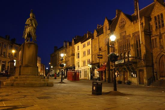 Market Place at Night, Durham-Peter Thompson-Photographic Print