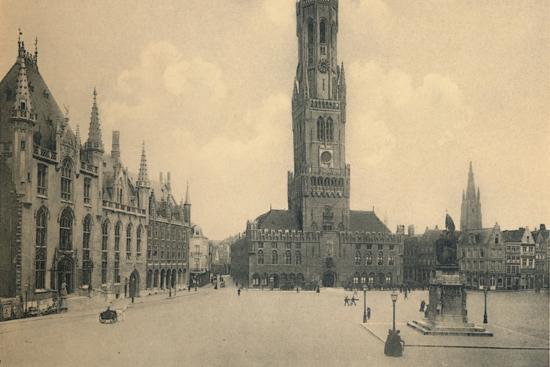'Market Place', c1910-Unknown-Photographic Print