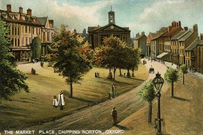 Market Place, Chipping Norton, Oxfordshire, Late 19th or Early 20th Century- Langsdorff and Co-Giclee Print