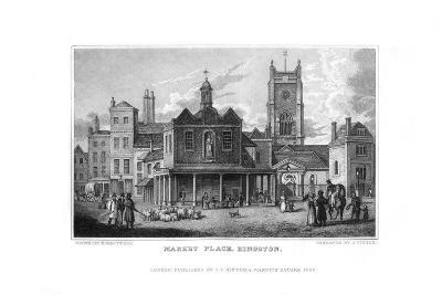 Market Place, Kingston, Surrey, 1829-J Fisher-Giclee Print