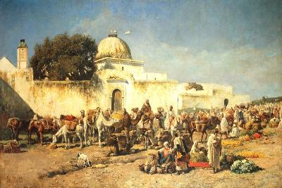 Market Scene at Mogador, 1881-Edwin Lord Weeks-Giclee Print
