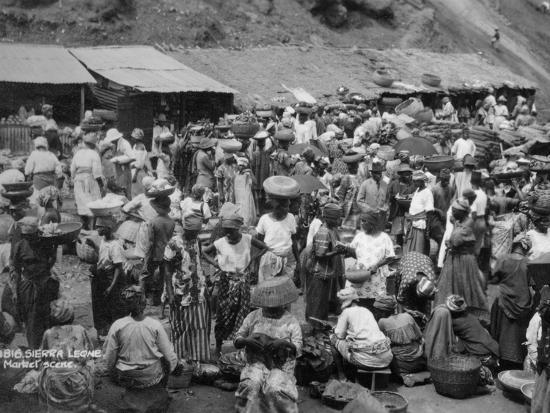 Market Scene, Sierra Leone, 20th Century--Photographic Print